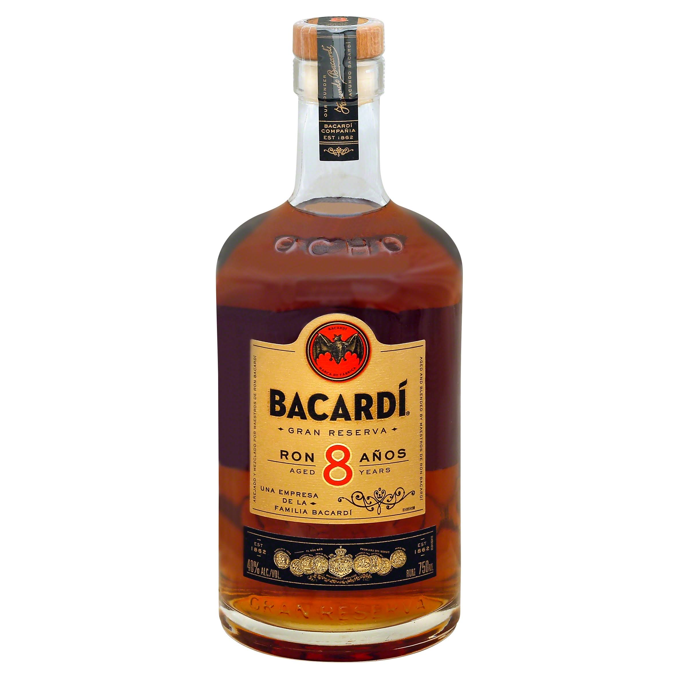 Bacardi 8 Year-Old Ron Reserva Añejo Superior Rum - 750ml