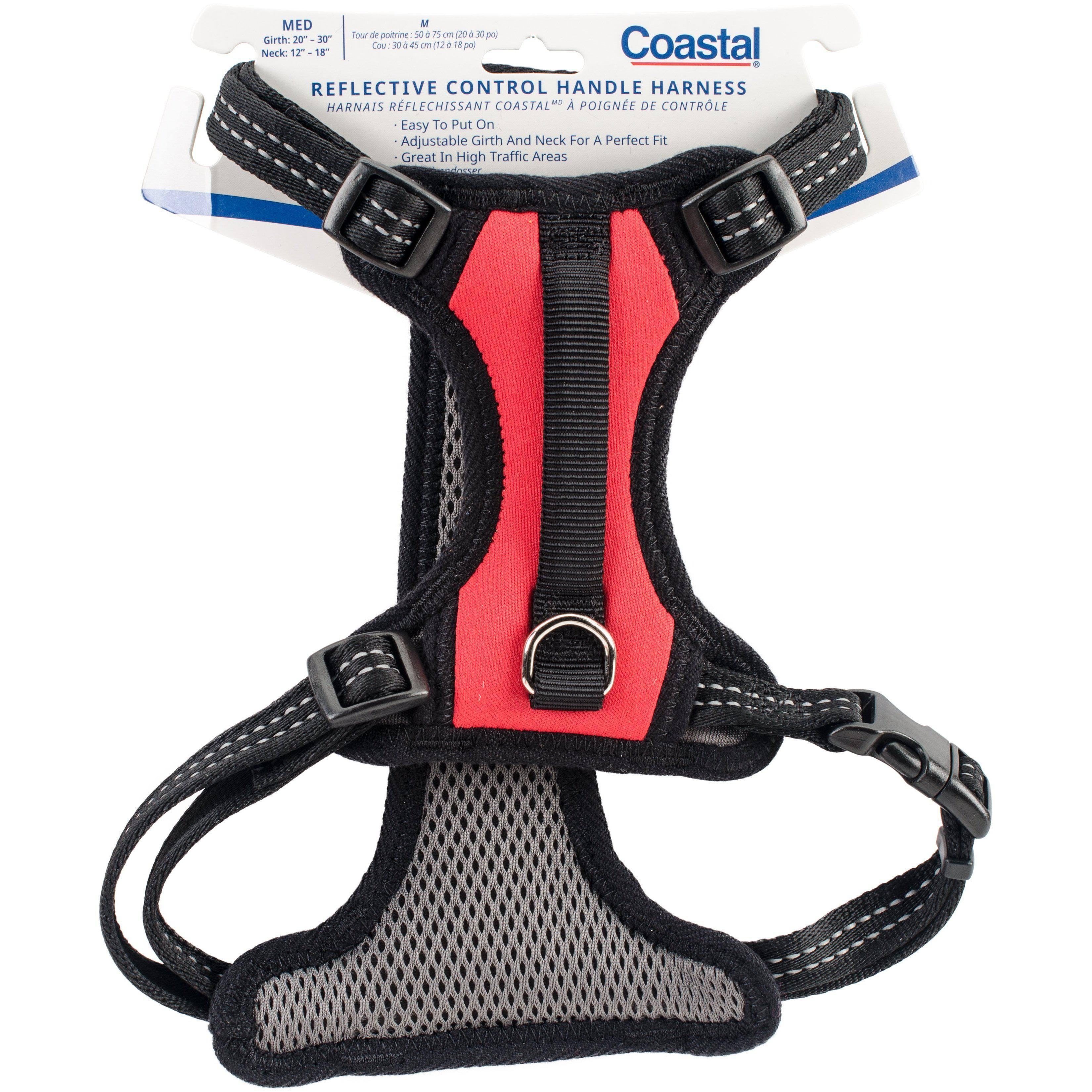 Coastal Reflective Reflective Reflective Control Handle Harness - Red, Medium