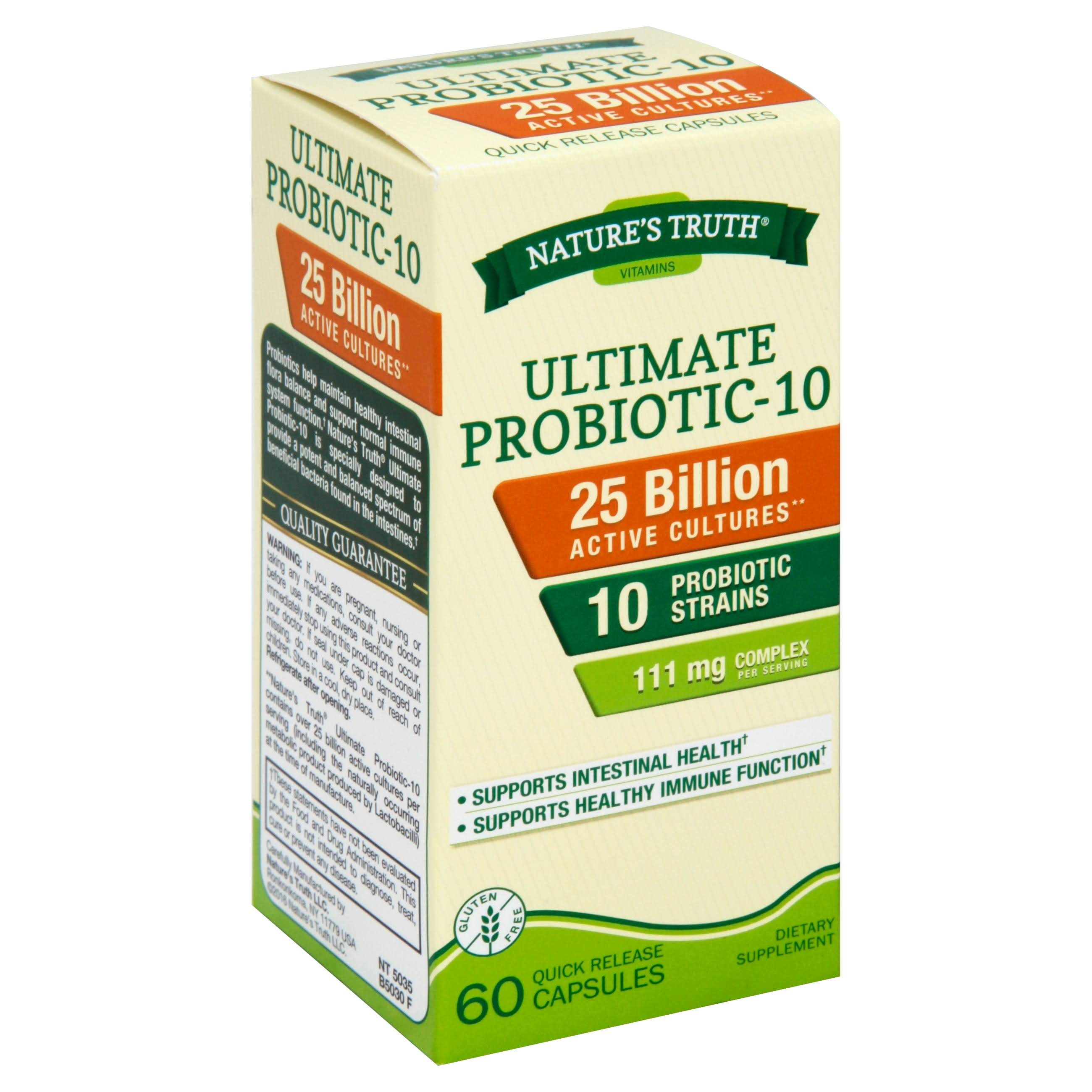 Nature's Truth Ultimate Probiotic-10 - 60 ct