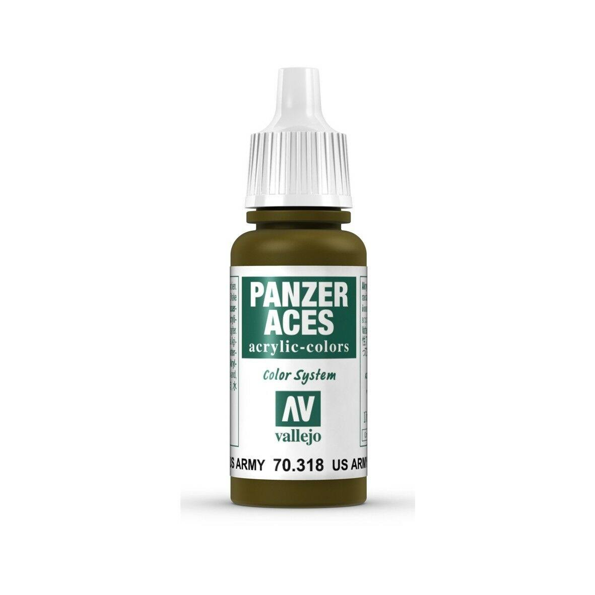 Vallejo 70.318 Panzer Aces Acrylic Paint - US. Army Tank Crew, 17ml