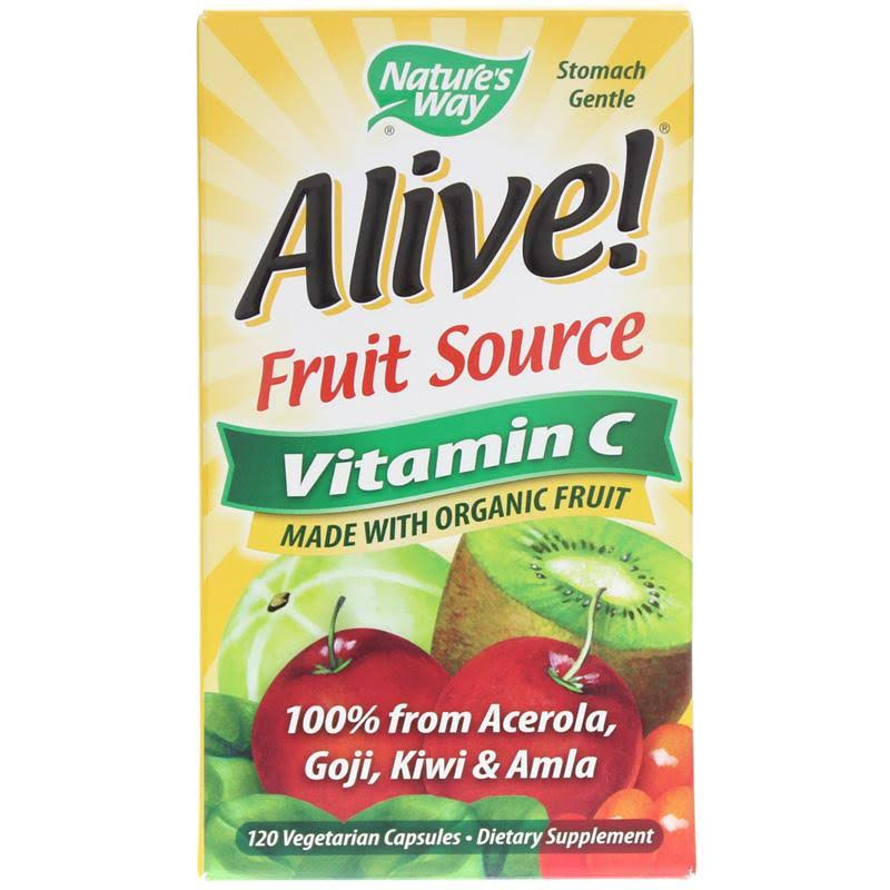 Nature's Way Alive 100% Whole Food Complex Vitamin C - 500mg, 120 Capsules