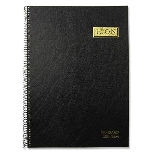 Icon Sketch Pad - Black, 120 Pages