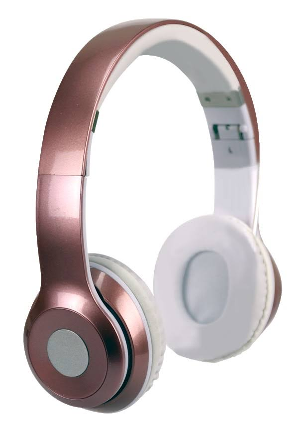 Pro Series Bluetooth Fold-able Stereo Headphones (Rose Gold)