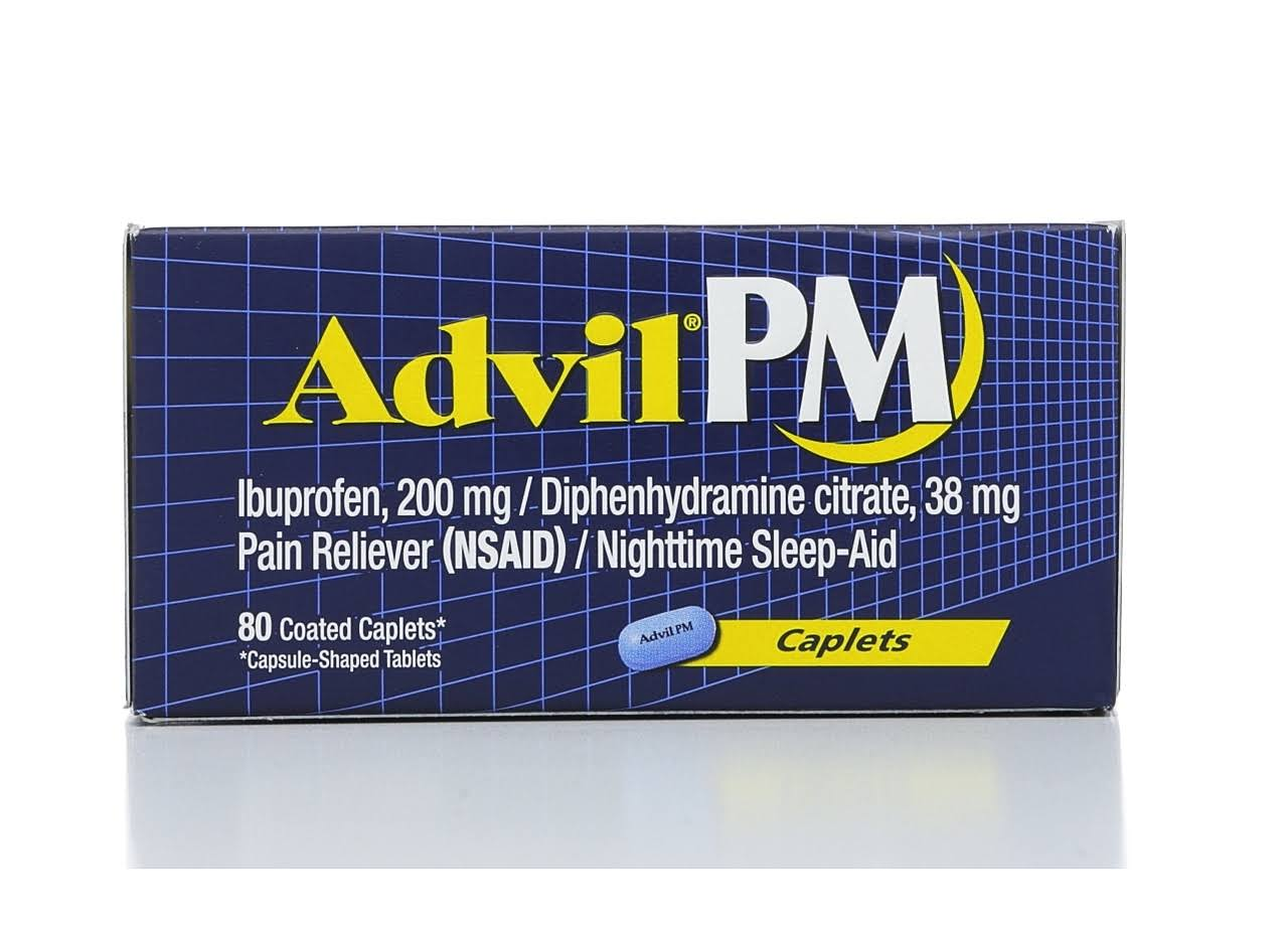 Advil PM Ibuprofen - 80 Coated Caplets