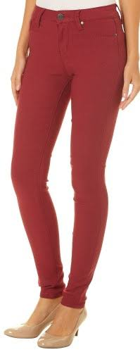 YMI Juniors Solid Hyperstretch Skinny Pants Red Medium