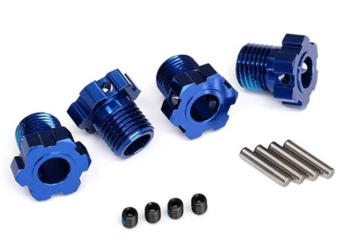 Traxxas Wheel Hubs - Blue, 17mm