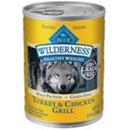 Blue Buffalo Wilderness Adult Healthy Weight Dog Food - Turkey & Chicken Grill, 12.5ozz