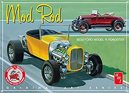 AMT 1000 Mod Rod Scale Vehicle Car Model Toy Kit - 1929 Ford Model A Roadster
