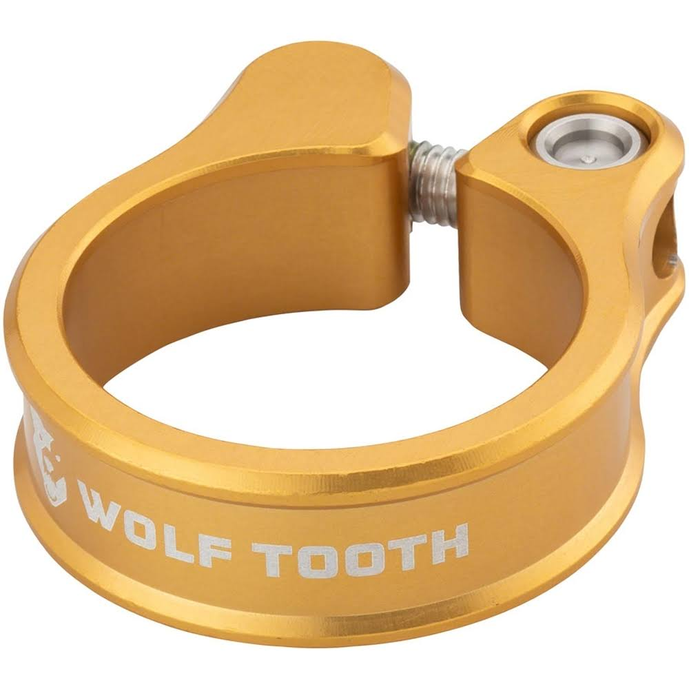 Wolf Tooth Seatpost Clamp - 34.9mm, Gold