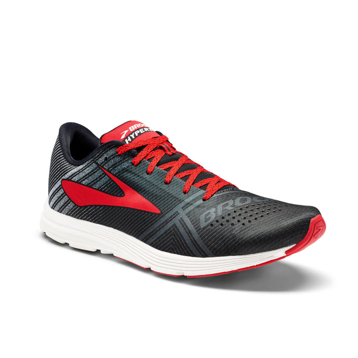 Brooks Men's Hyperion Running Shoes - White/Black/Red