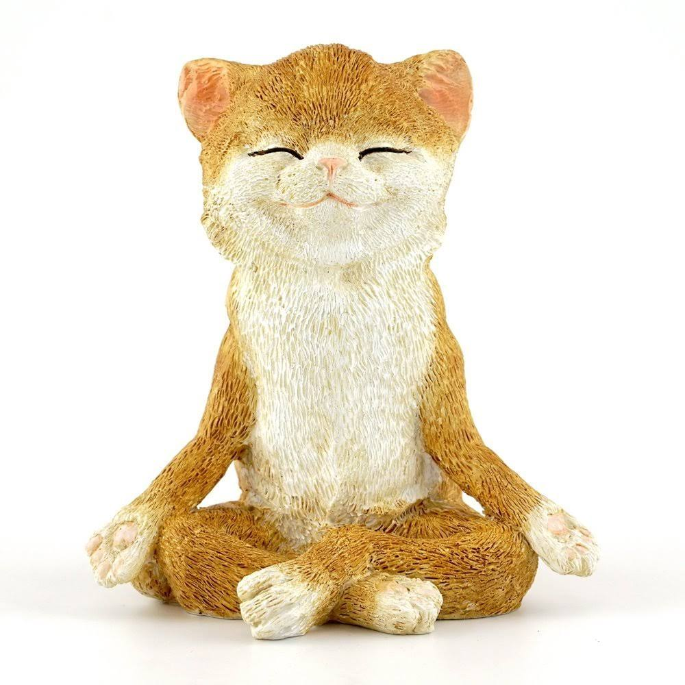 Top Collection 4410 Fairy Garden & Terrarium Cat in Meditation Statue, Small