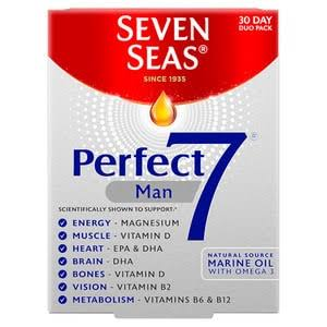 Seven Seas Perfect 7 Man Tablets and Capsules - 30pk