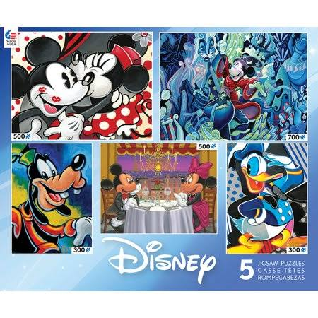 Ceaco Disney Classic 5-in-1 Multipack Jigsaw Puzzles