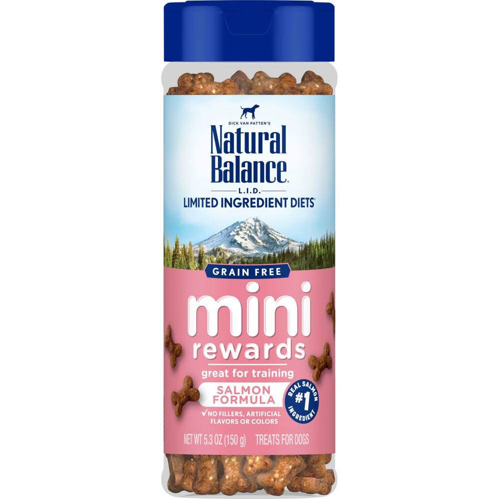 Natural Balance L.I.D. Salmon Mini Rewards Dog Training Treats, 5.3 oz.