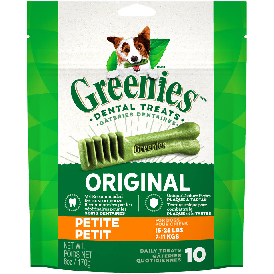Greenies Dog Dental Chew Treats - Petite, 6oz