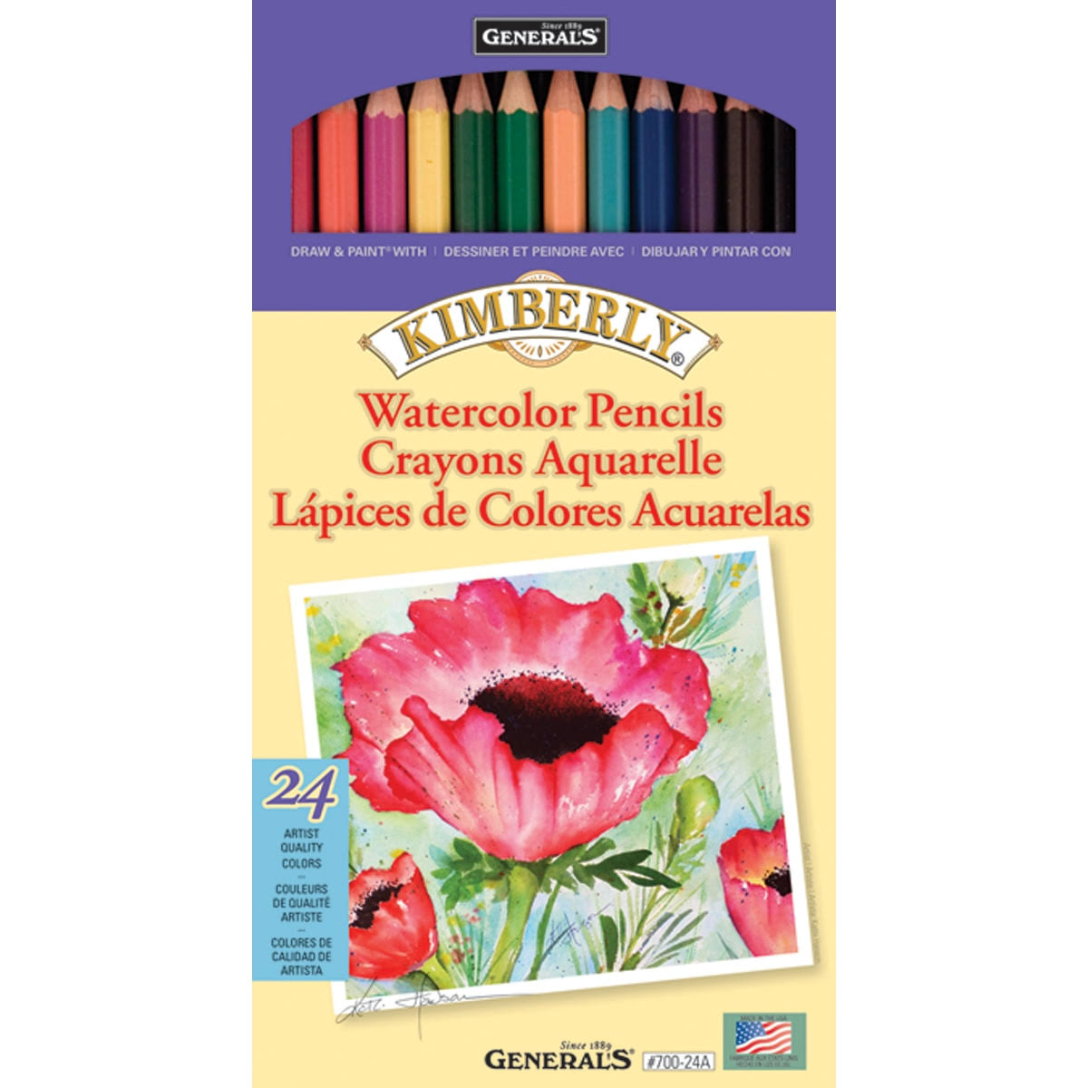 General Pencil Kimberly Watercolor Pencils - 24pk
