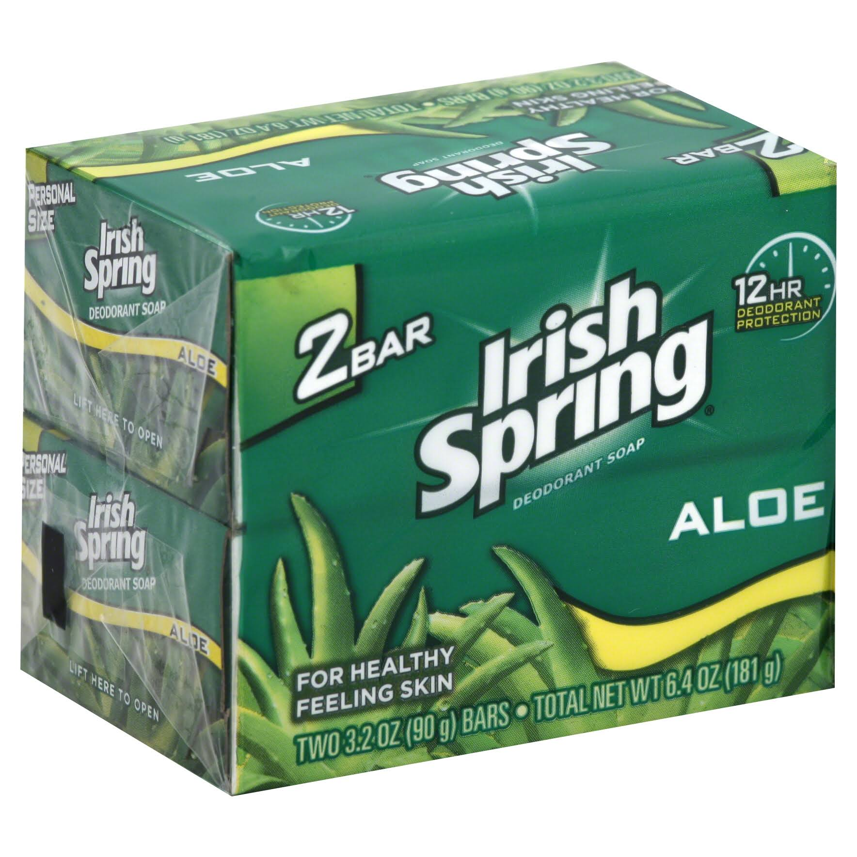Irish Spring Bars Soap Aloe Bath - 3.2oz, 2ct