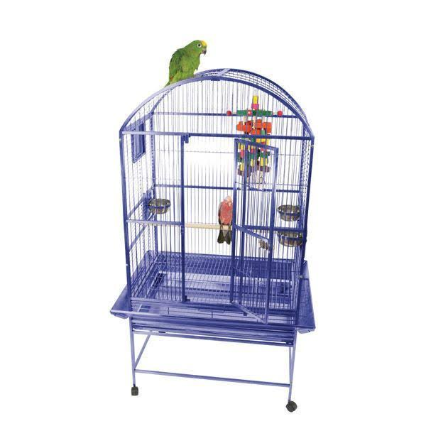 A and E Cage 9002422 Platinum Dome Top Bird Cage - Medium