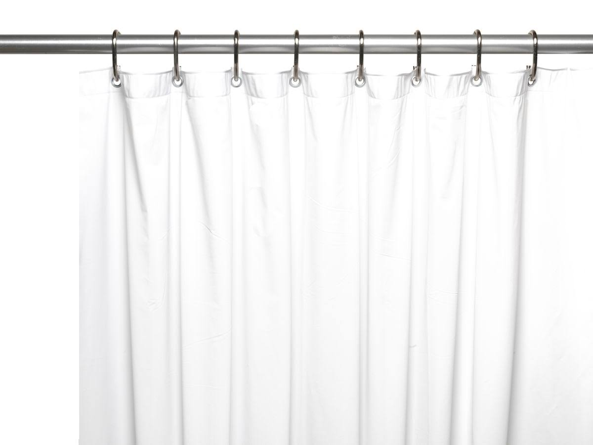 Carnation Home Fashions 3 Gauge Vinyl Shower Curtain Liner - White