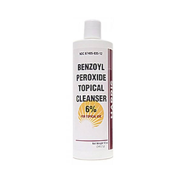Benzoyl Peroxide 6% Topical Cleanser, 12 oz.