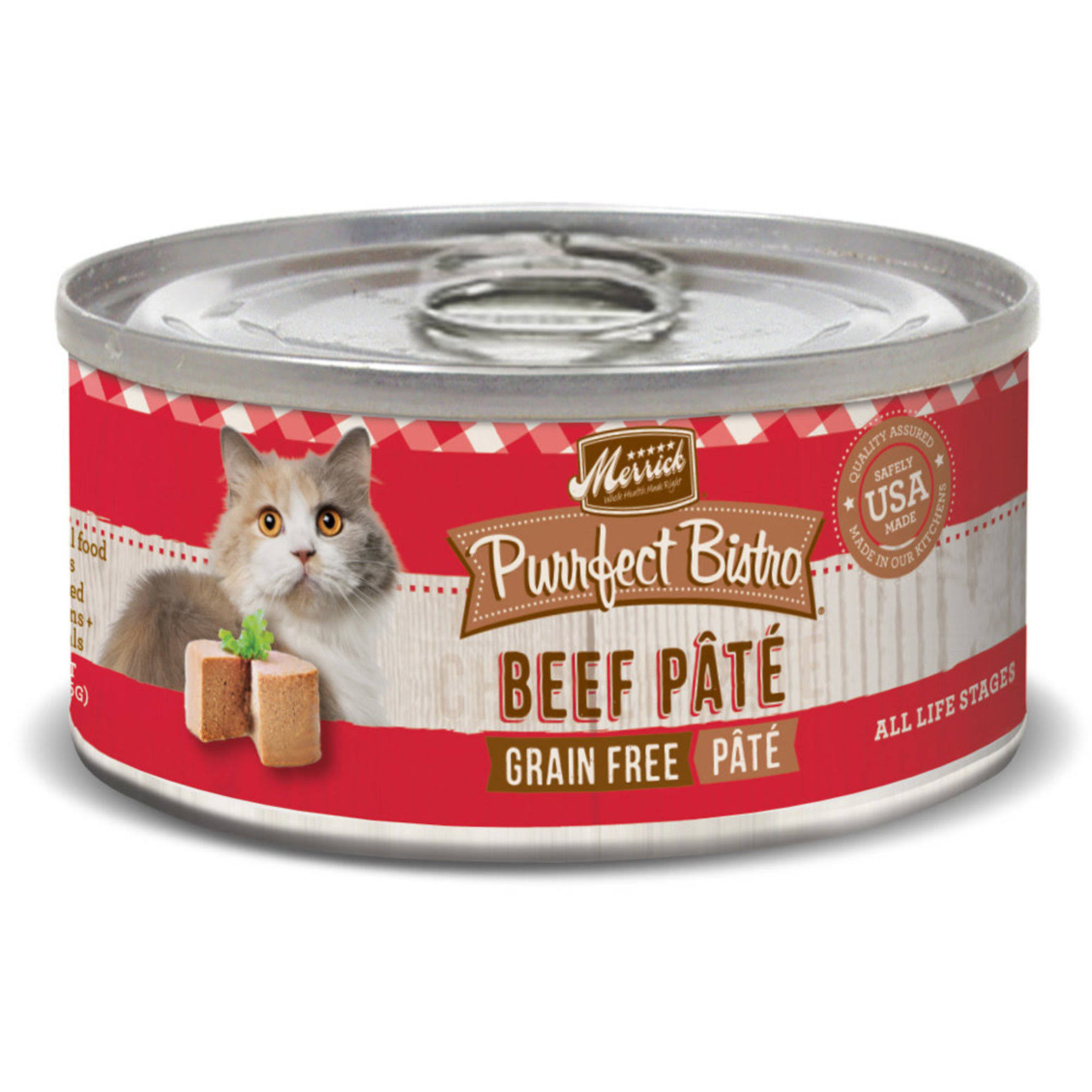 Merrick Purrfect Bistro Grain Free Canned Cat Food - Beef, 3oz