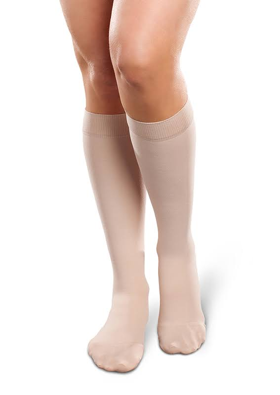 Therafirm Ease Opaque Women's 15-20 mmHg Knee High Large Short / Natural