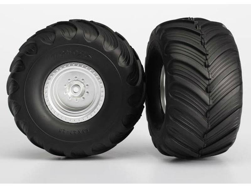 Traxxas 3663 Monster Jam Tires and Wheels - Assembled and Glued, 2pcs