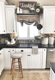Above Kitchen Cabinet Decorations Pictures by Farmhouse Kitchen Decor Burlap Sack Curtain Ig Bless This Nest