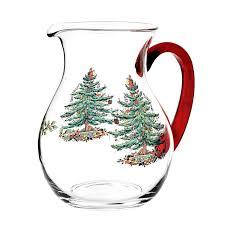 Christmas Tree Amazon Prime by Amazon Com Spode Christmas Tree Glass Pitcher Carafes U0026 Pitchers