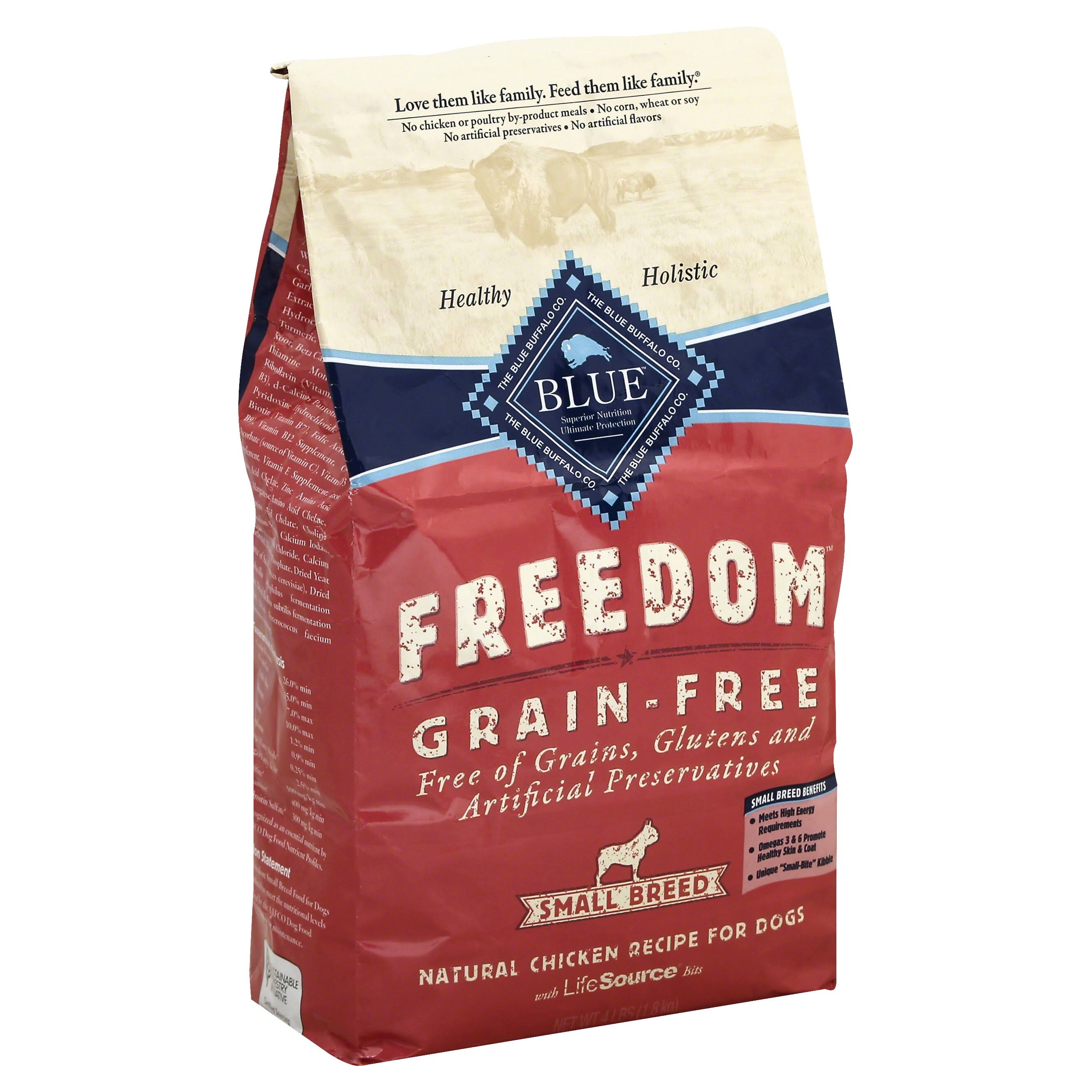 Blue Buffalo Small Breed Freedom Dry Dog Food - Chicken Recipe, Adult, 4lbs