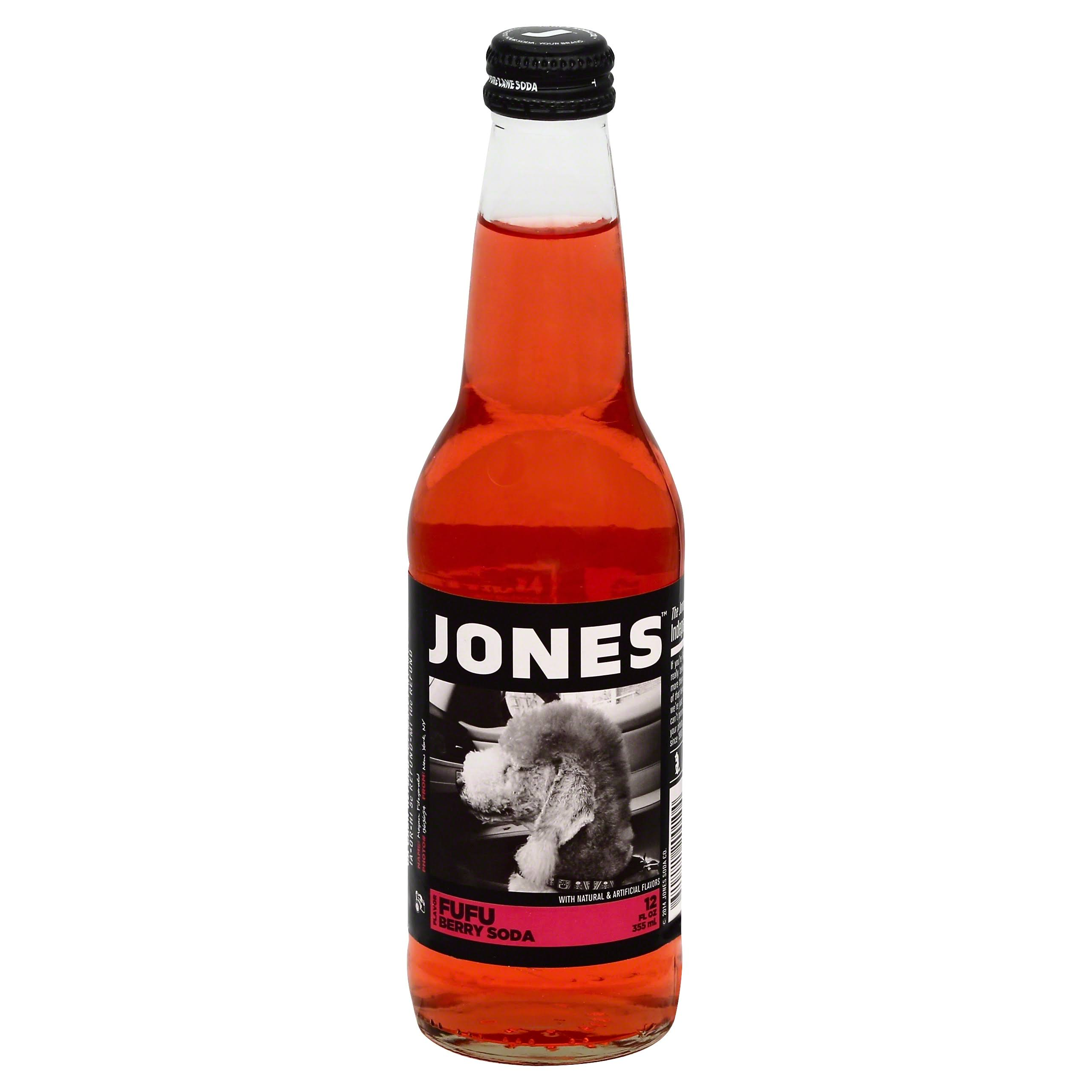 Jones Soda, Fufu Berry Flavor - 12 fl oz
