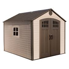Rubbermaid Large Storage Shed Instructions by Shop Lifetime Products Gable Storage Shed Common 8 Ft X 10 Ft