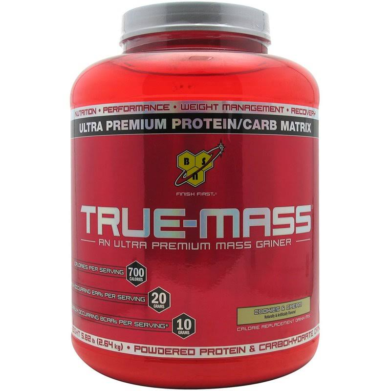 Bsn True-Mass Gainer Formula - Cookies and Cream, 5.75lbs
