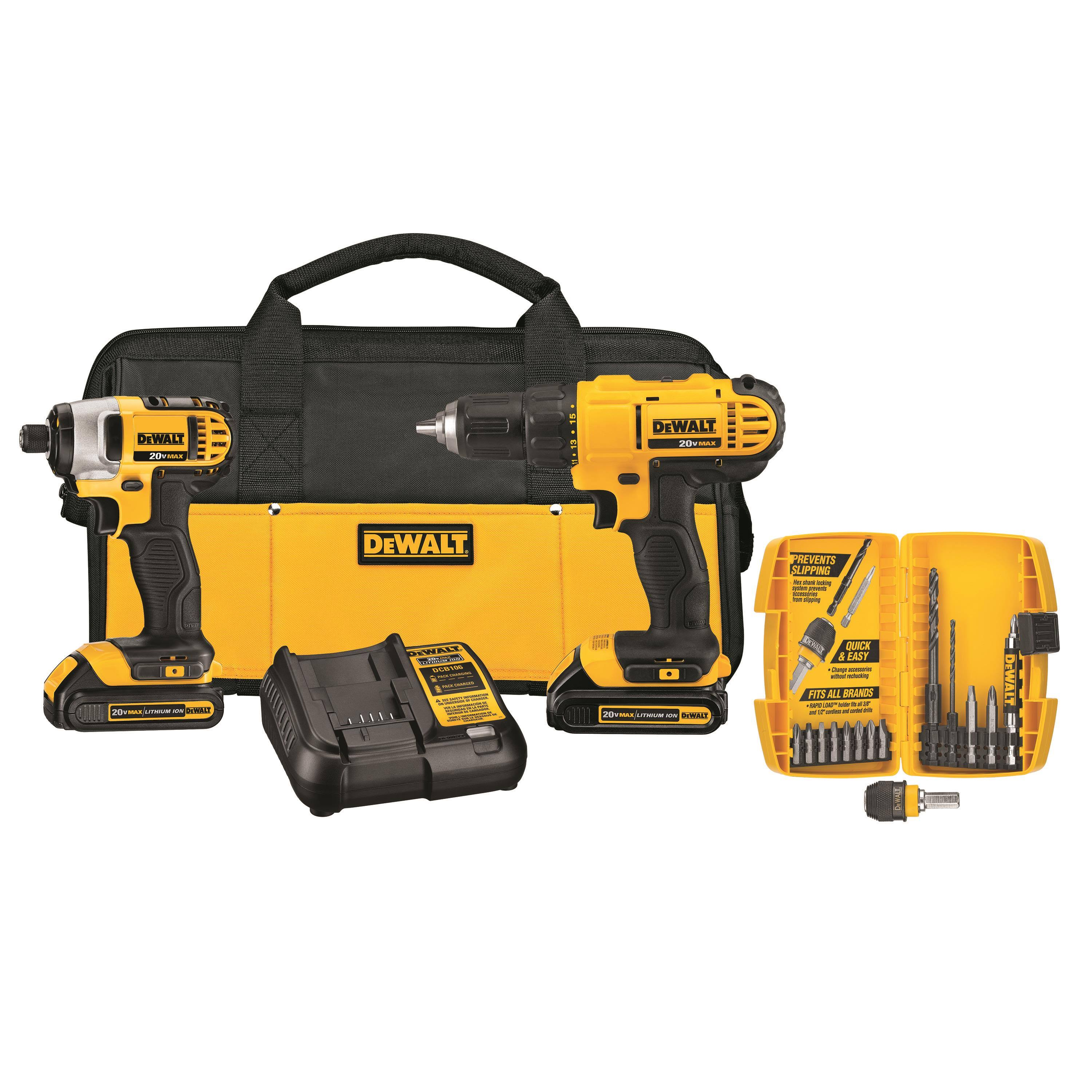 DeWalt Compact Driver and Impact Driver - Cordless, 20V