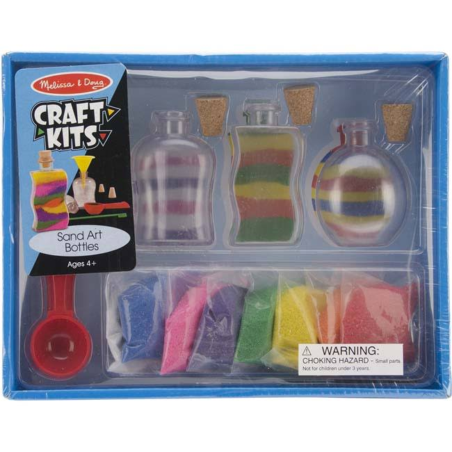 Melissa & Doug Sand Art Bottles Craft Kit - 3 Bottles, 6 Bags Of Colored Sand