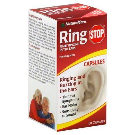 NaturalCare Ring Stop Fight Ringing in the Ears Homeopathic - 60 Capsules
