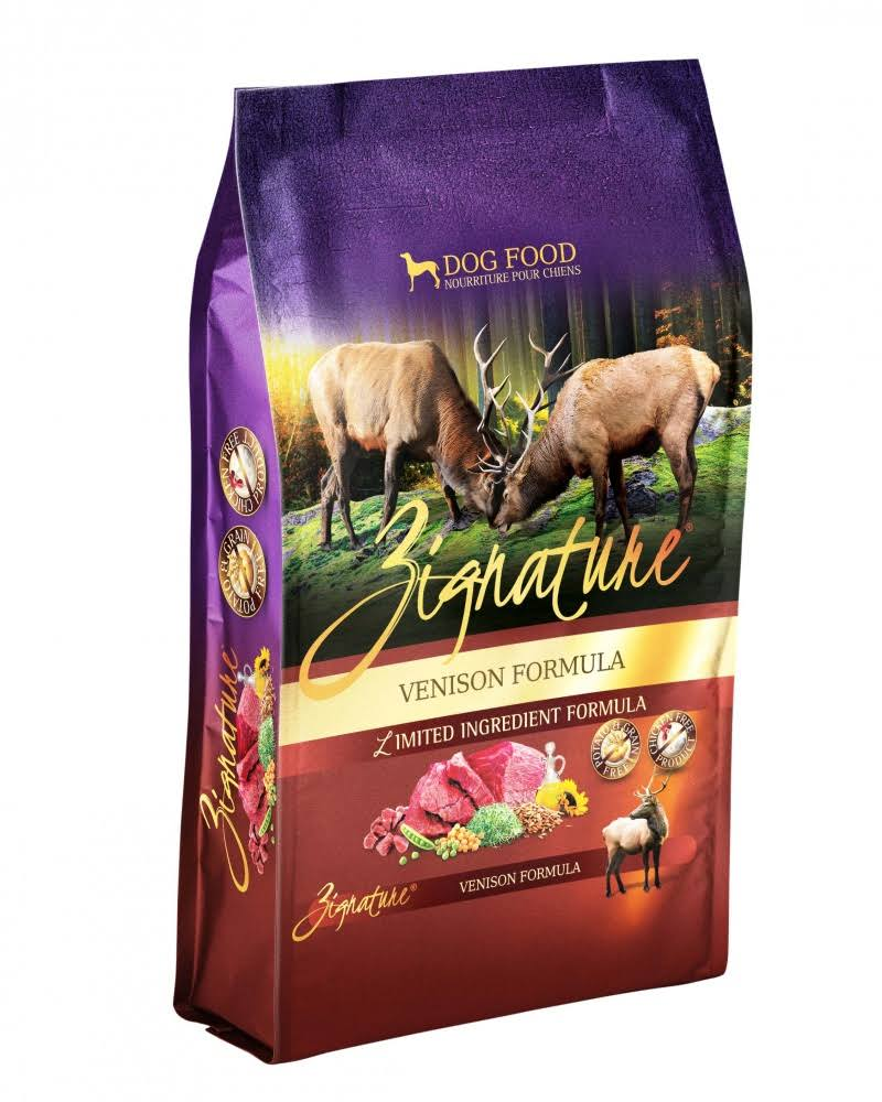 Zignature Venison Formula Dog Food - 13.5lb