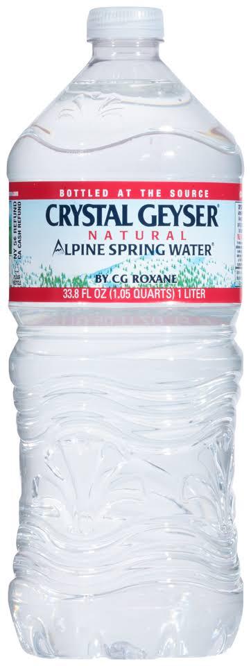 Crystal Geyser Natural Water, Spring, Alpine - 33.8 fl oz