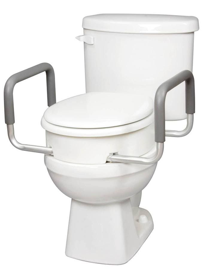 Carex Toilet Seat Elevator - with Arms for Standard Toilets