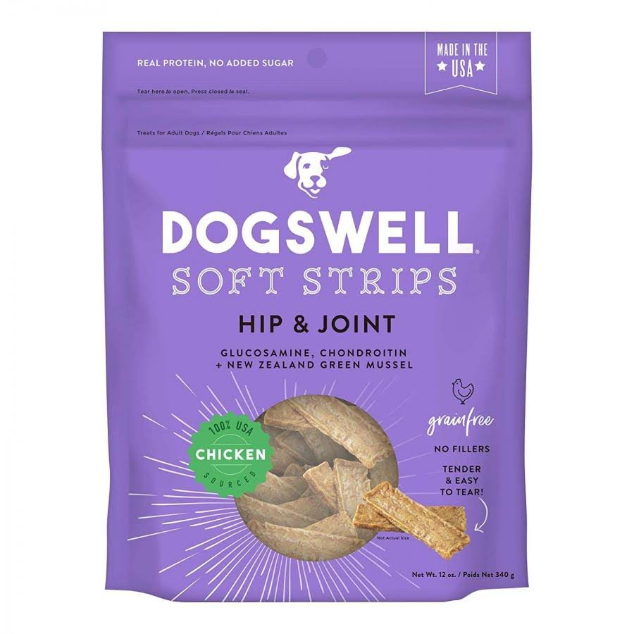 Dogswell Soft Strips Hip & Joint Dog Treats - Chicken - 12 oz