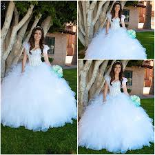 shining crysal white ball gown quinceanera dresses sweet 16