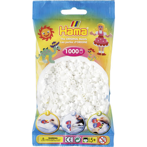 Hama Beads Craft Kit - White, 1000pcs