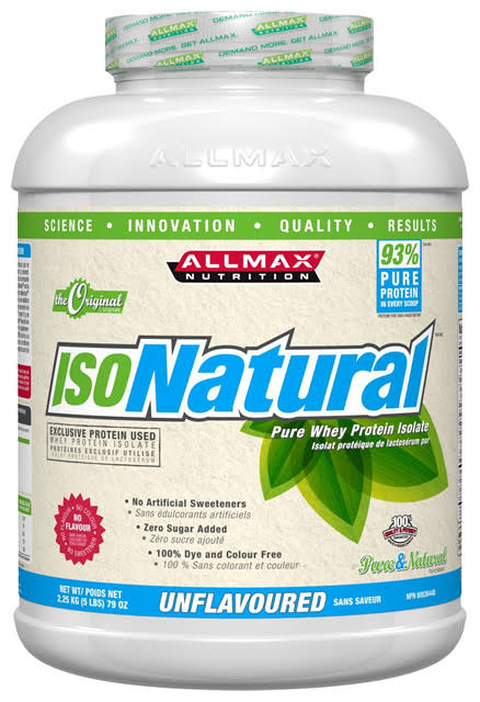 Allmax Isonatural Whey Protein Isolate Protein Supplement - Vanilla, 5lbs
