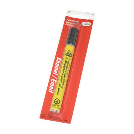 Testors Enamel Paint Marker - Gloss Yellow, 10ml