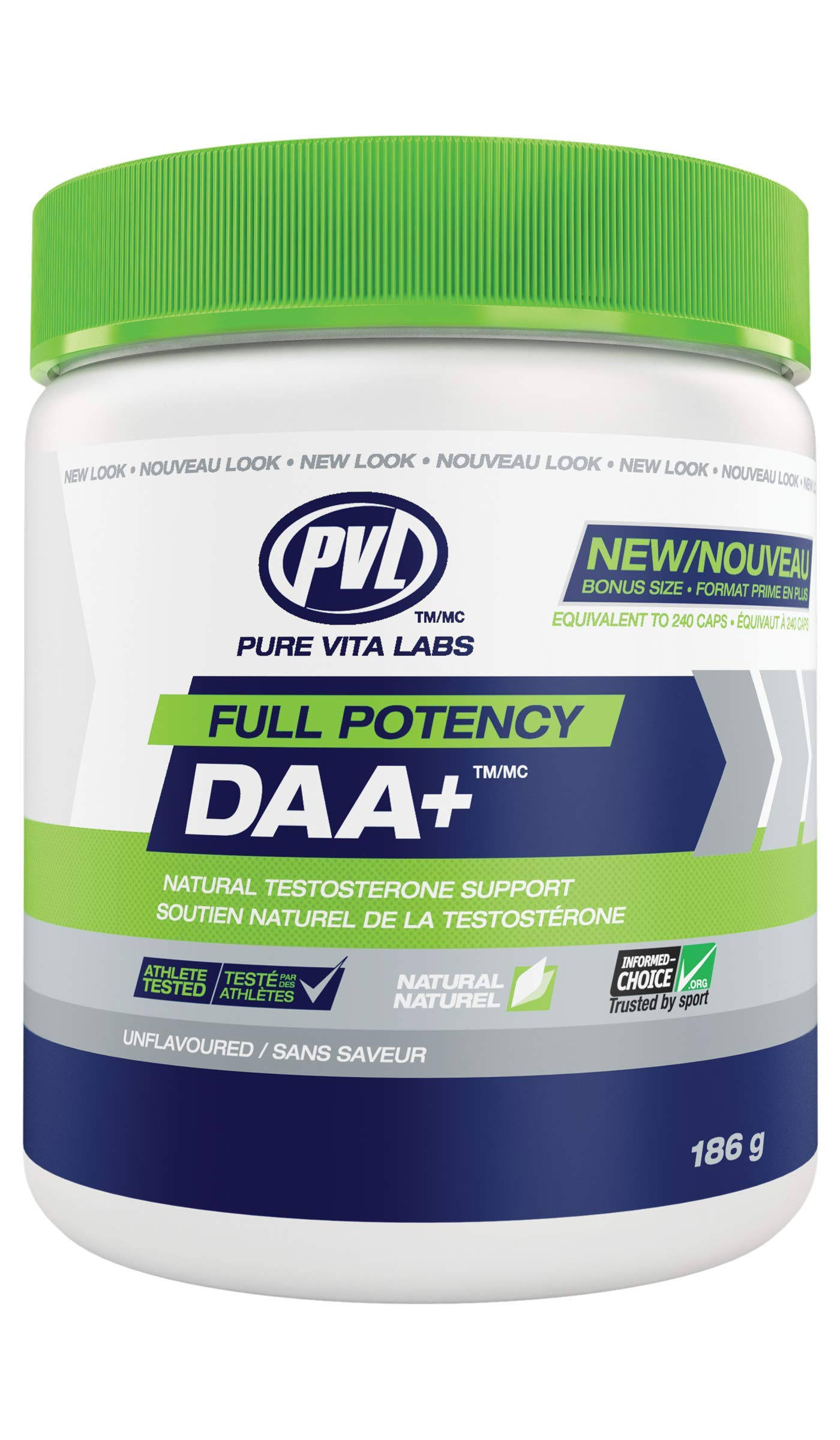 PVL Full Potency DAA+ 186g Unflavoured
