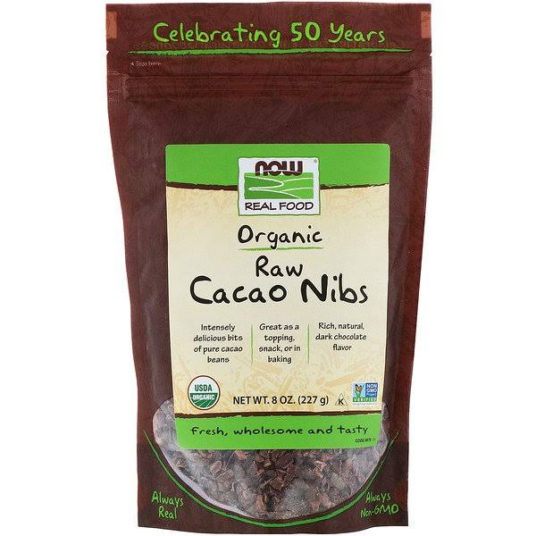 Now Foods Organic Raw Cacao Nibs - 8oz