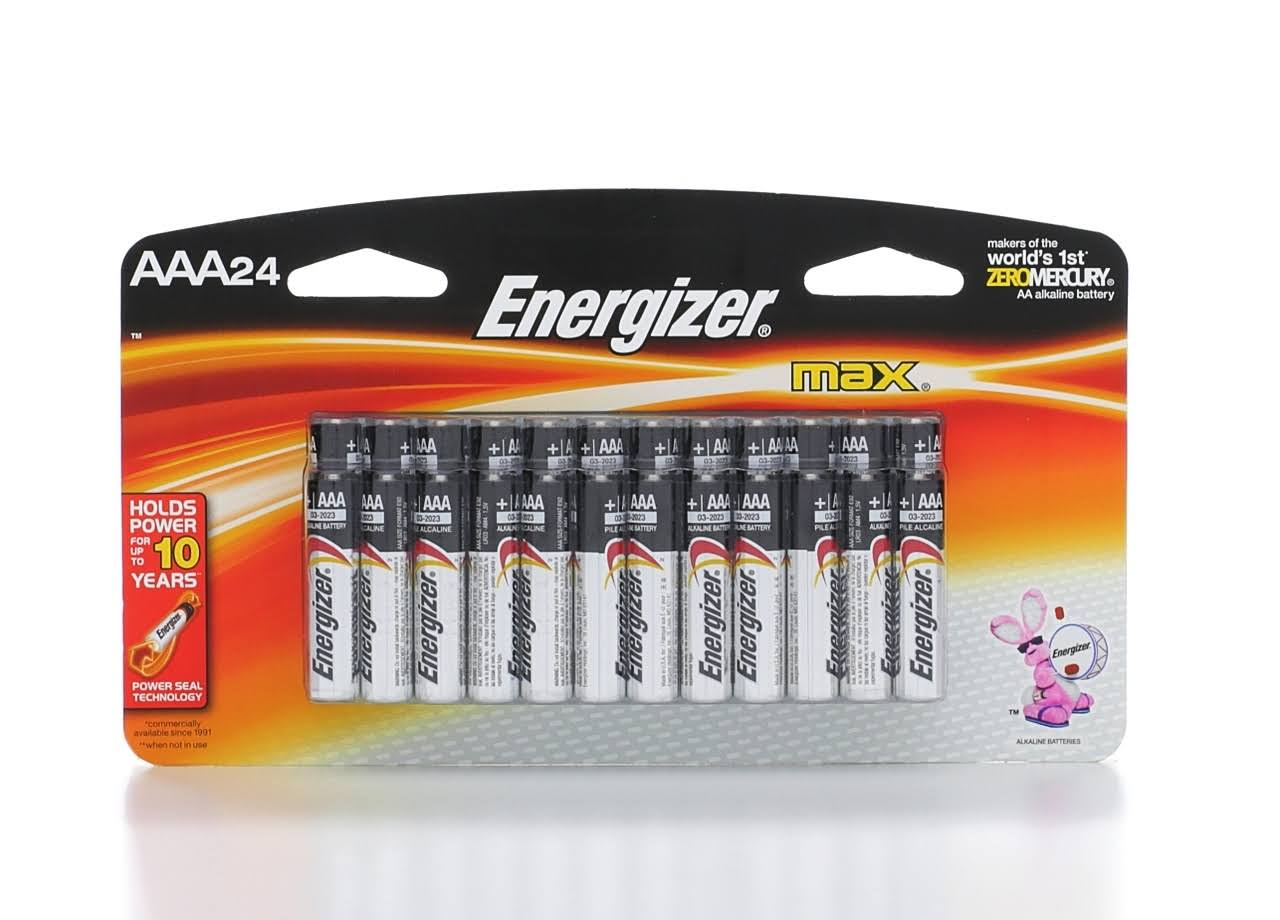 Energizer Max AAA Alkaline Batteries - 1.5V, 24pk