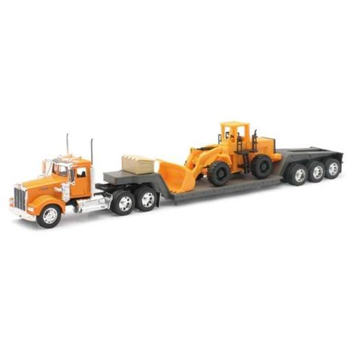New Ray Kenworth Lowboy Trailer & Construction Tractor Model