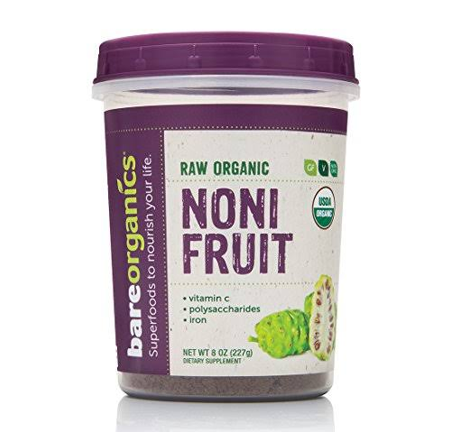BareOrganics Organic Noni Fruit Powder 8 oz