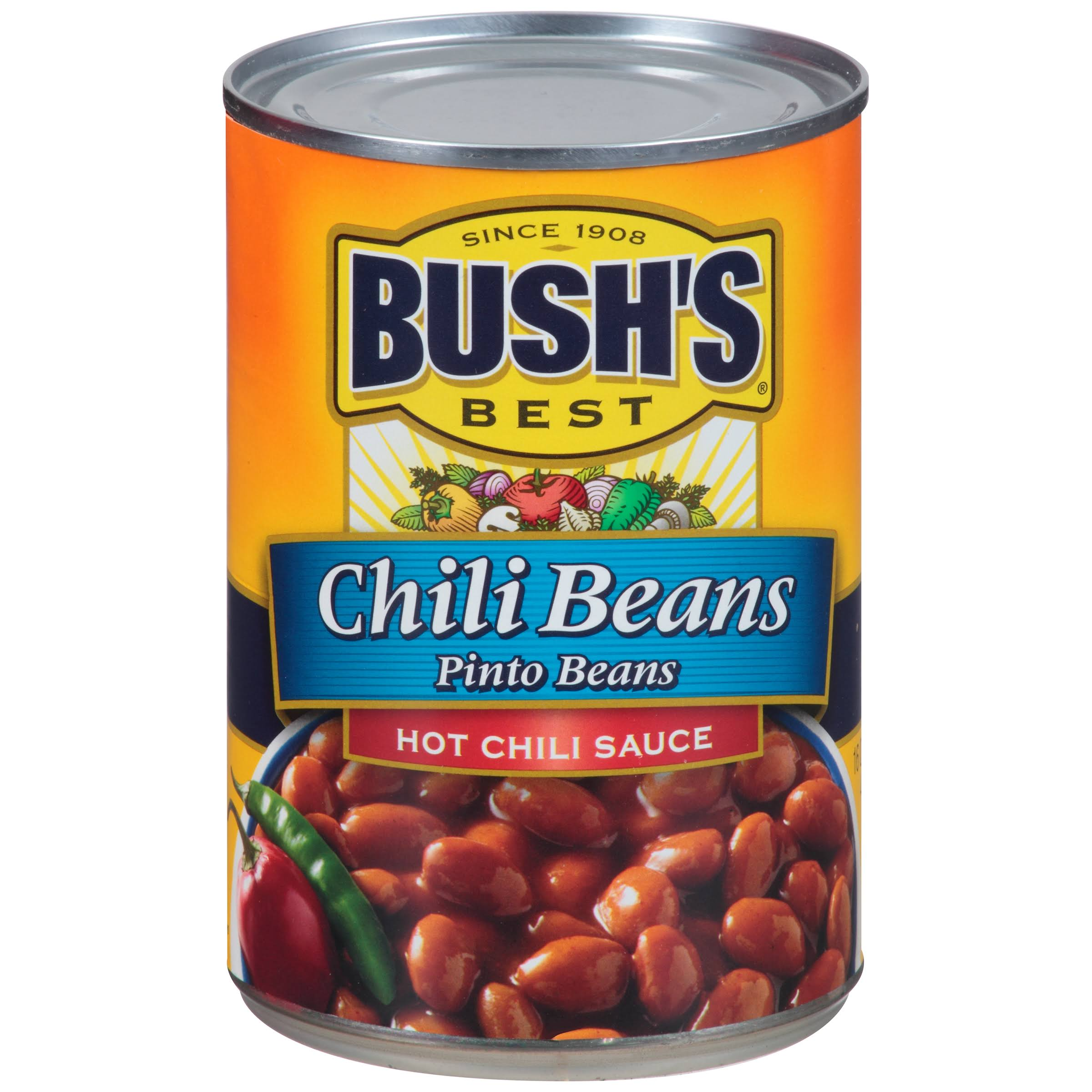 Bush's Best Pinto Chili Beans - Hot Chili Sauce, 16oz, 12ct